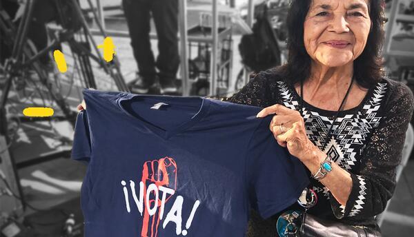 Dolores Huerta estuvo en el concierto 'RaiseUp as one' para seguir alent...