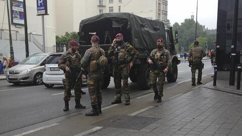Fuerzas de seguridad en Bruselas, Bélgica