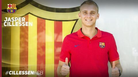 Primera foto oficial de Cillisen como jugador del Barcelona
