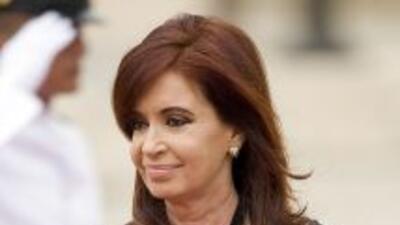 La presidenta argentina,Cristina Fernández.