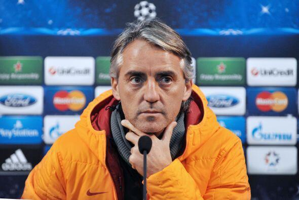 El técnico italiano del Galatasaray, Roberto Mancini, es tercero...