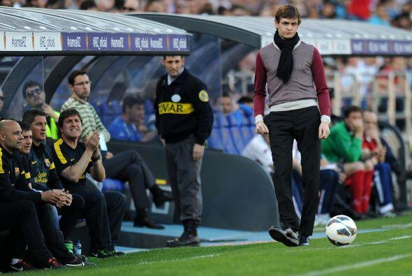 Tito Vilanova, entrenador de los visitantes, mostró que tiene bue...