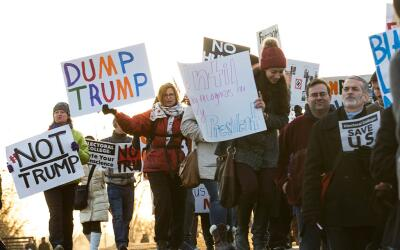 Washington DC ya está siendo escenario de protestas anti-Trump an...