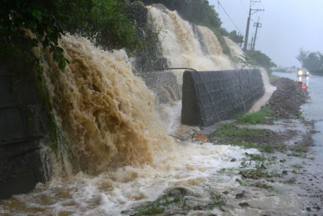 El súper tifón Usagi, la tormenta más poderosa del año, trajo lluvias to...