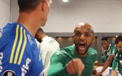 Así reaccionaron los jugadores del Palmeiras en el vestidor tras la bata...