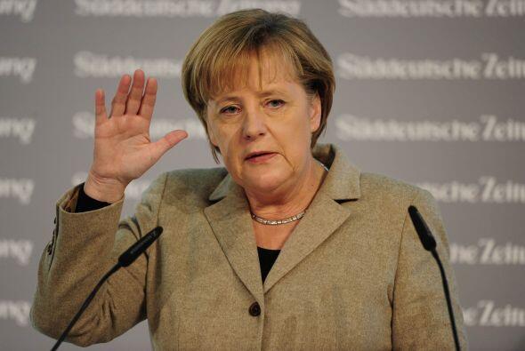 La canciller alemana, Angela Merkel, se colocó en el quinto puesto. En 2...