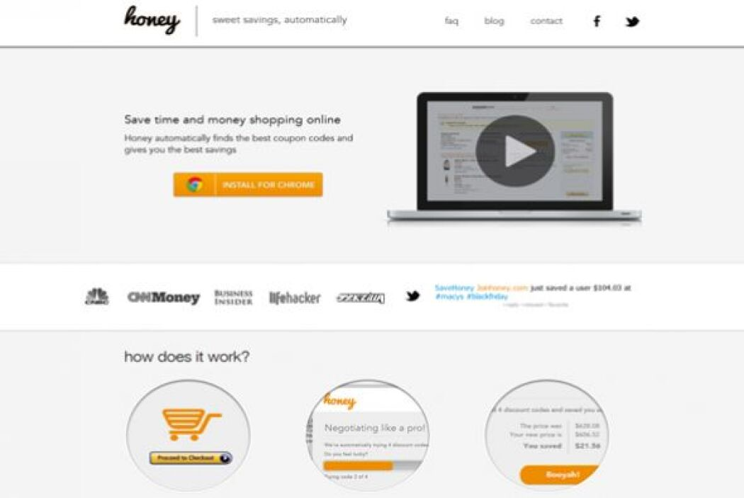 Honey (joinhoney.com)  Calificación de CR: Muy bueno para ahorros automa...