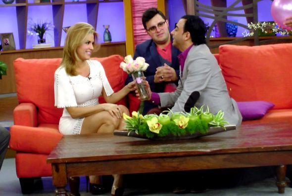 Alicia lo miraba divertido y contó que existe un gran cariño entre ellos.