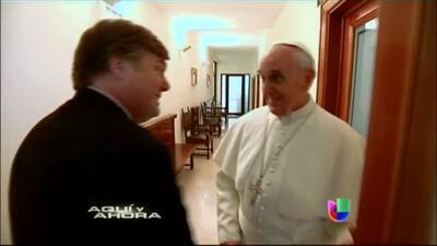 Corresponsal de Univision se sentó a almorzar con el Papa Francisco