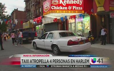 Taxi perdió el control hiriendo a 4 personas