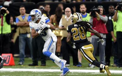 Golden Tate se escapó 66 yardas para el touchdown que sentenci&oa...