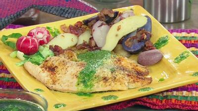Receta de Tilapia en Salsa Verde con el Chef Pepín y María Elisa Camargo