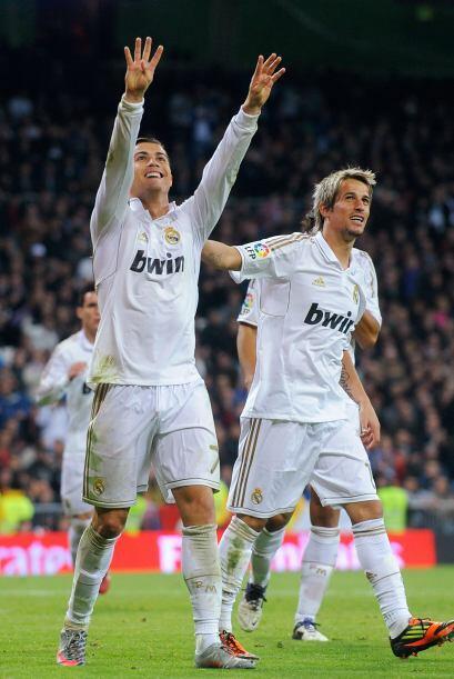 CR7 sumó otro 'doblete' y alcanzó la marca de 105 goles con la camiseta...