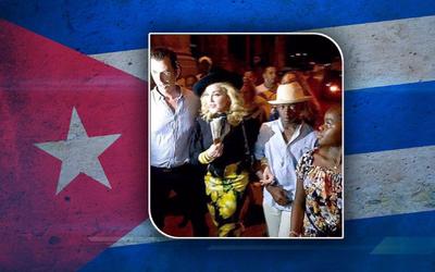 Madonna en La Habana, Cuba.