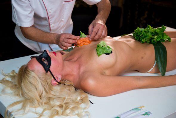 No te espantes, el sushi tenía todas las medidas de seguridad y por otro...