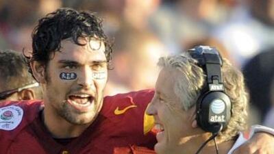 Durante la época colegial de ambos en USC (AP-NFL).
