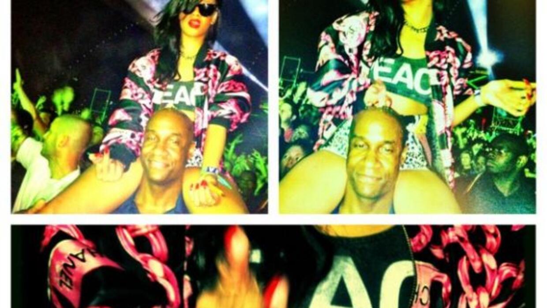 Rihanna asegura que ama la vida 'loca' y no cambiará. Foto: Twitter badg...