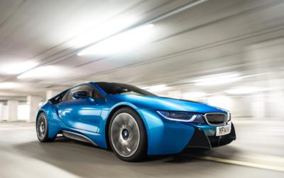 La actual generación del BMW i8 presentada en el año 2014...
