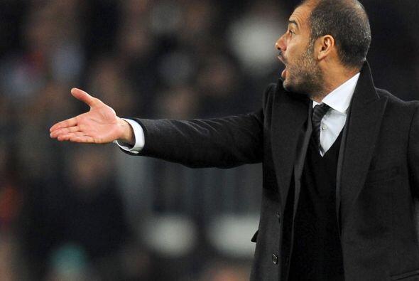 Y Guardiola no paraba de dar indicaciones, se lo vió muy nervioso por mo...