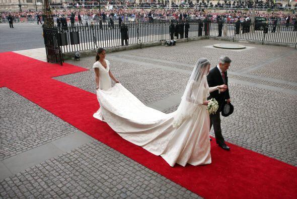 Imponente llegada de Catherine Middleton.