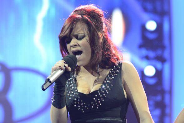Ana Cristina en el escenario.
