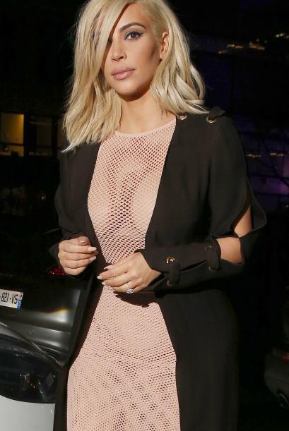 Kim y Kanye asistieron al desfile de Lanvin en París.