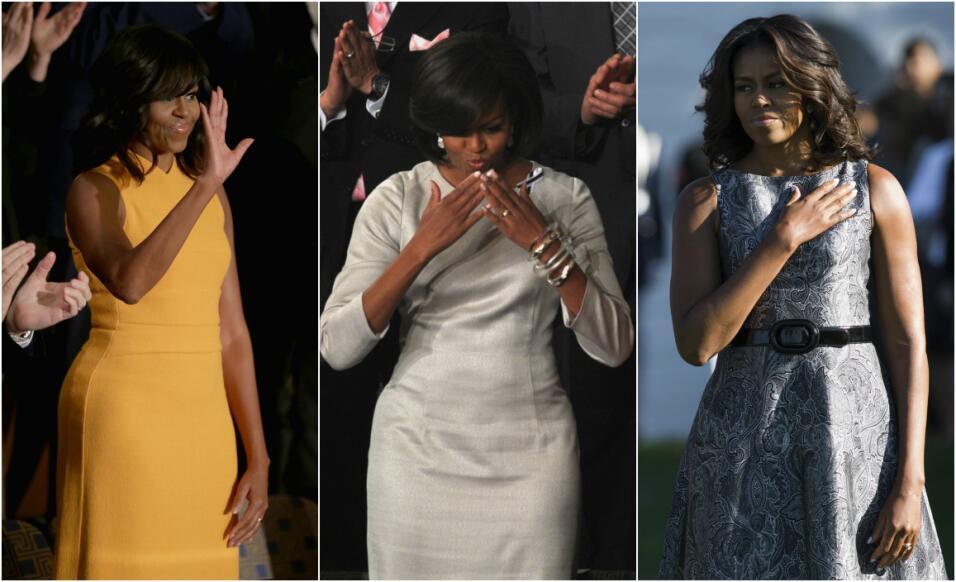 Michelle Obama y su optimismo hecho vestido   Obama%20Collage.jpg
