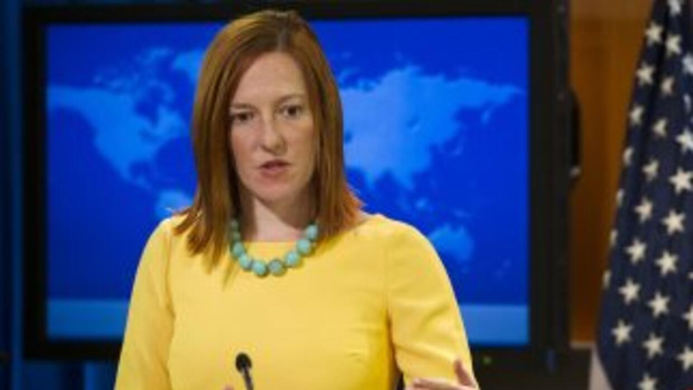 La portavoz del Departamento de Estado, Jen Psaki.
