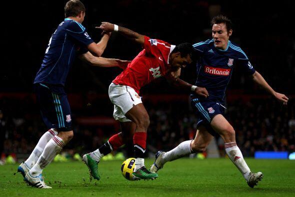 El Stoke empató, pero Nani rompió la igualdad.
