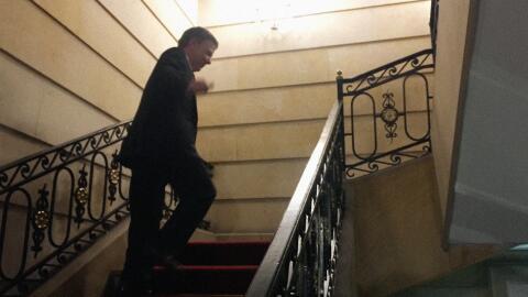 Juan Manuel Santos en la Casa de Nariño tras la jornada del plebi...