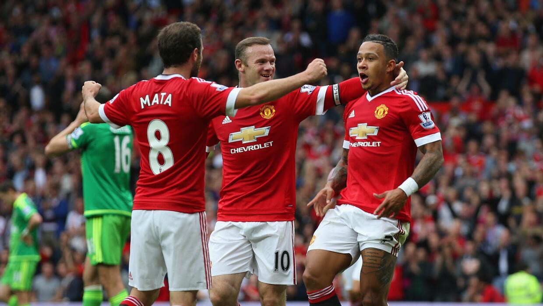 Depay, Rooney y Mata metieron los goles del United.