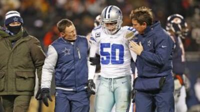 Sin Sean Lee, la defensiva de Cowboys ha sido un caos (AP-NFL).