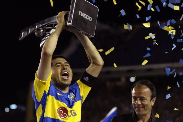 Los éxitos seguirían con el Boca, Riquelme conquist&oacute...