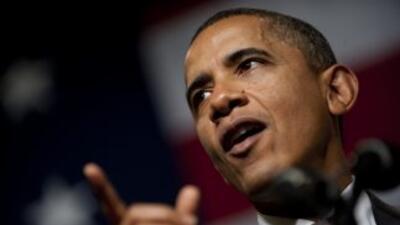 El presidente Obama brindó un breve mensaje desde la Casa Blanca.