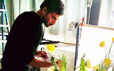 Un florista hispano triunfa en Hollywood con sus creaciones