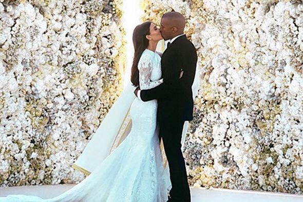 ¡Ah, el amor! Hoy Kim Kardashian y Kanye West celebran sus primeros 73 d...