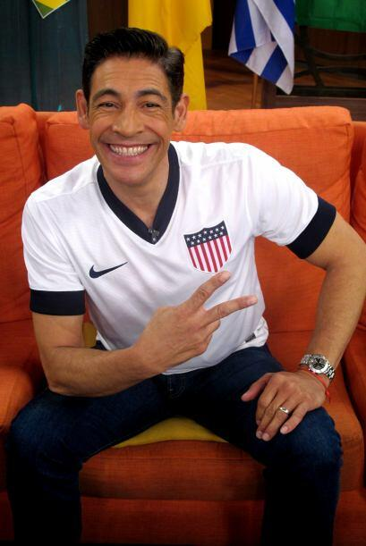 Johnny apoyando a la selección de Estados Unidos.