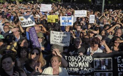 Manifestación en pedido de pronta justicia en el caso Nisman.