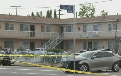 Una persecución termina en un dramático tiroteo en Sur Los Ángeles