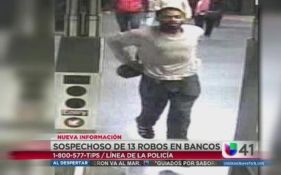 Sospechoso de robar 13 bancos