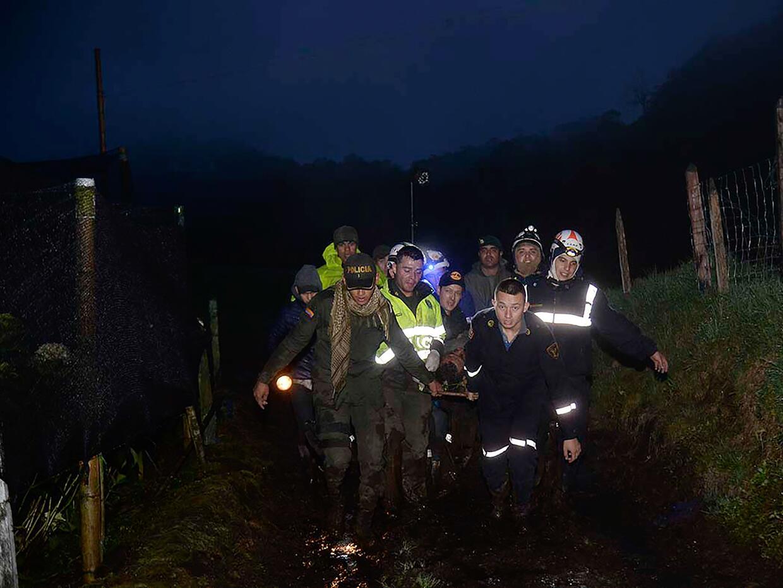 El avión se estrelló en las montañas de Cerro Gordo, municipio de La Uni...