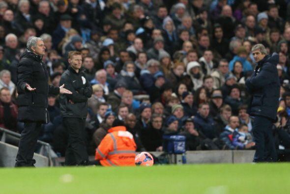 Y con el gol de Nasri la desesperación de Mourinho. Y Pellegrini disfrut...