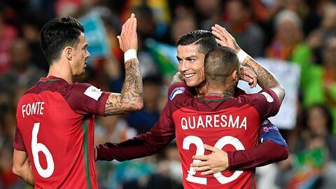 Portugal derrotó 4-1 a Letonia