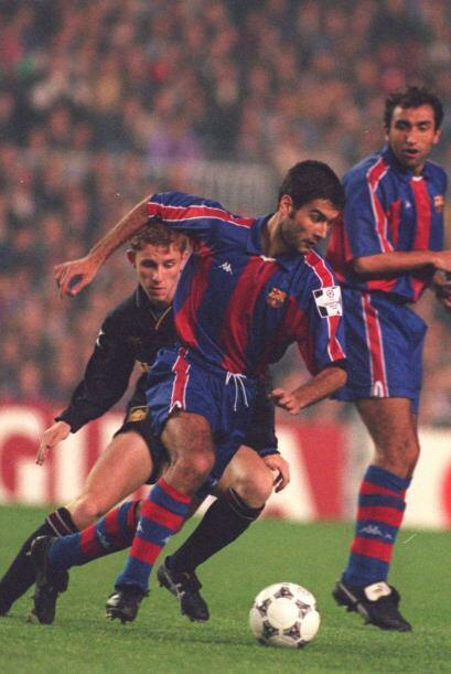 Guardiola fue uno de los jugadores más destacados del Barça en los años...