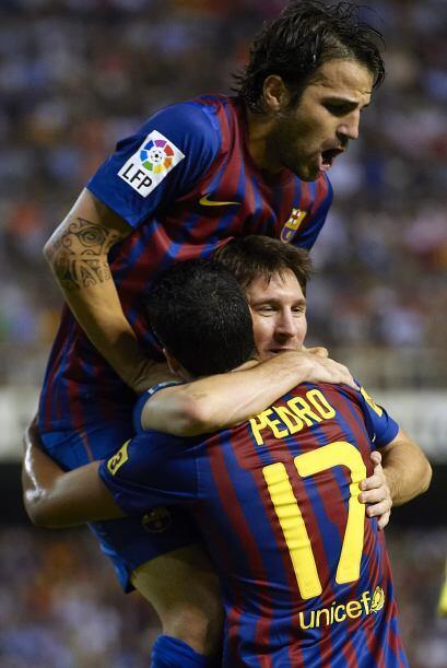 Pero aprovechó una excelente asistencia de Lionel Messi y puso las cosas...