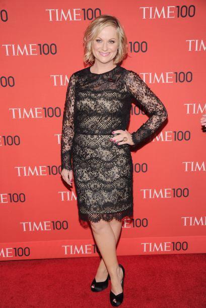 La guapa comediante Amy Poehler también apareció en la fam...