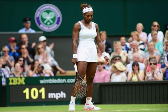 Así es, la número uno del mundo, Serena Williams, fue destronada en Wimb...