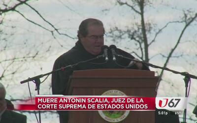 Muere el juez de la Suprema Corte Antonin Scalia