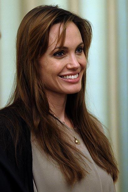 Angelina Jolie, actriz y filántropa, apareció en nuestra lista en el lug...