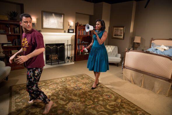 En el mismo mes, la primera dama participó en una sketch del programa de...